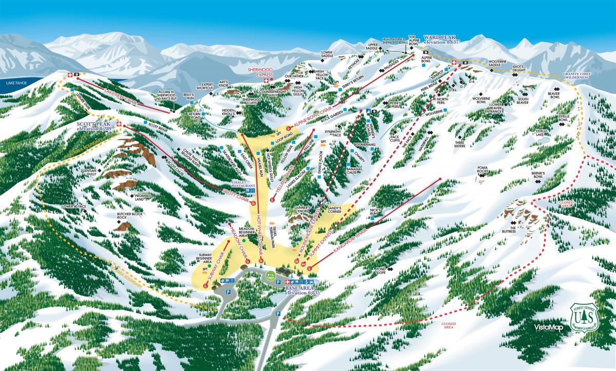 Alpine Meadows Trail Map