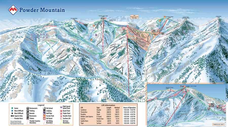 Powder Mountain Trail Map