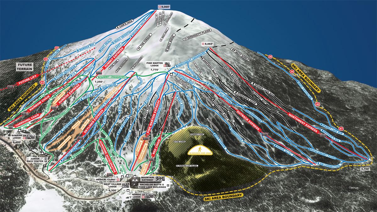 Mt Bachelor Trail Map