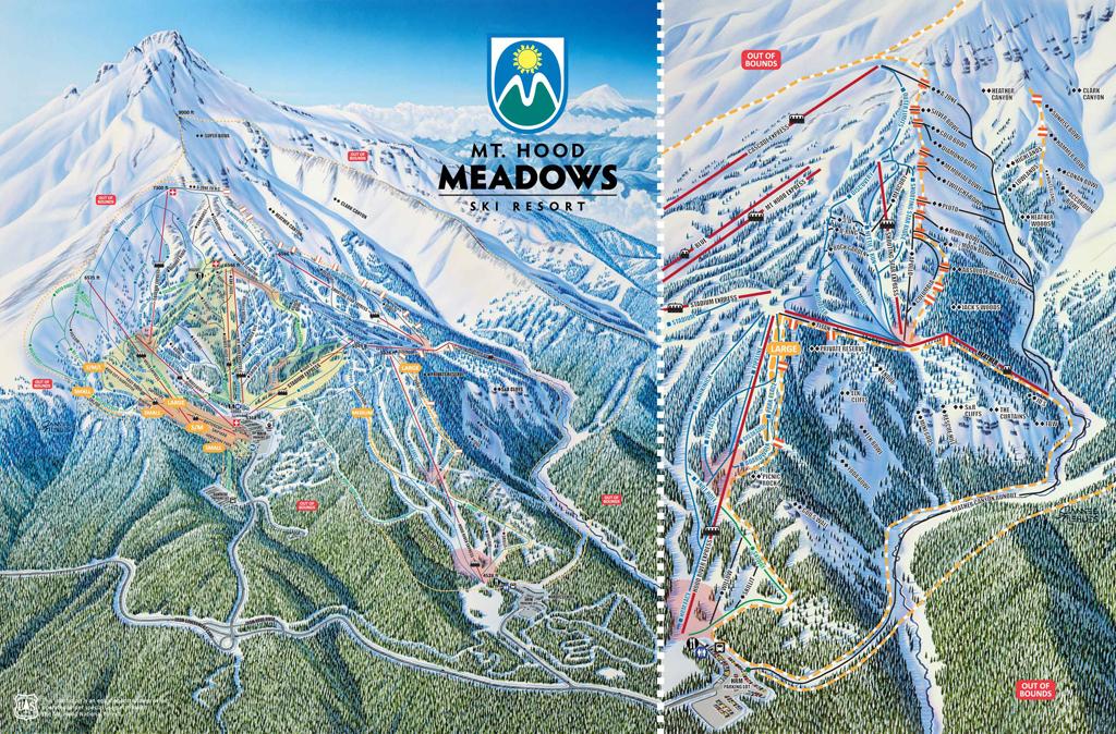 Mt Hood Meadows Trail Map