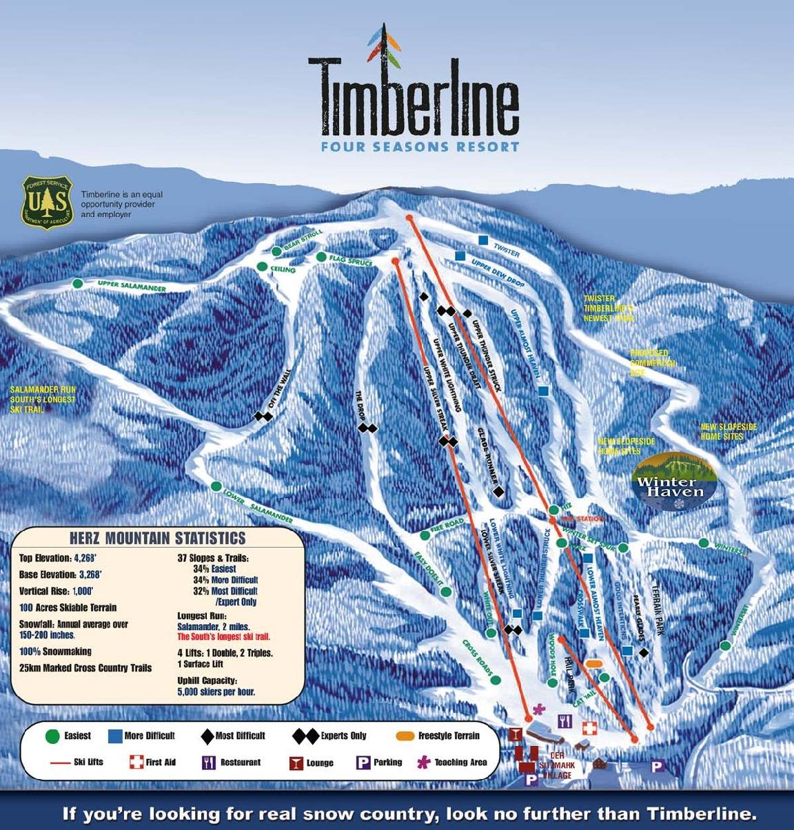 Timersline Trail Map