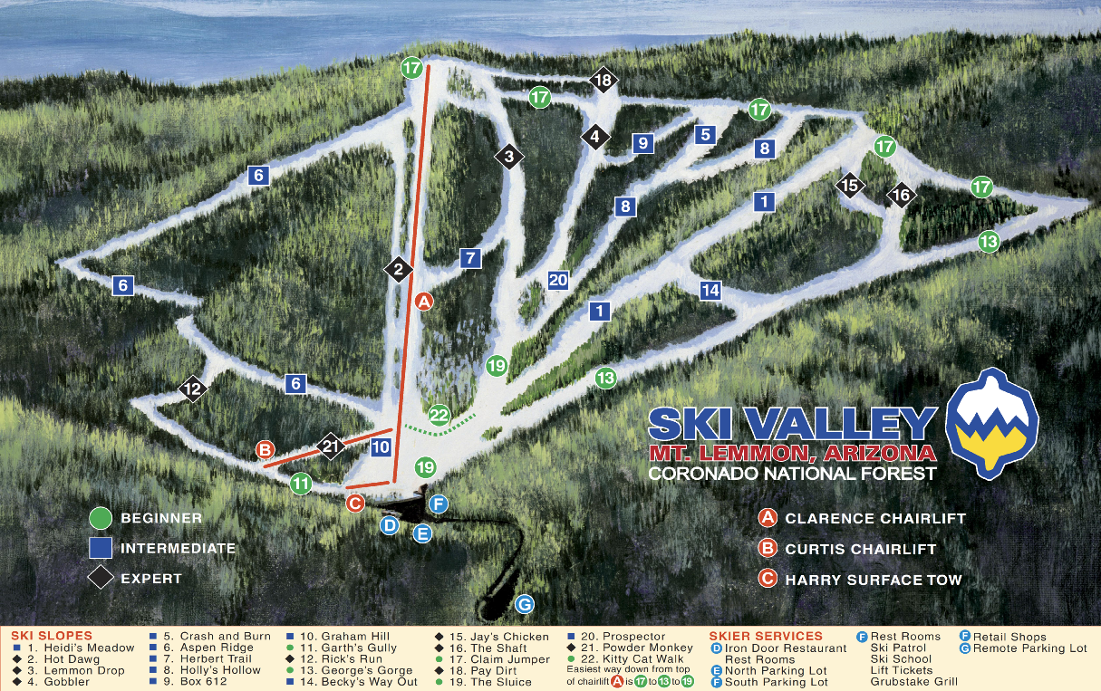 Mt Lemmon Sky Valley Trail Map