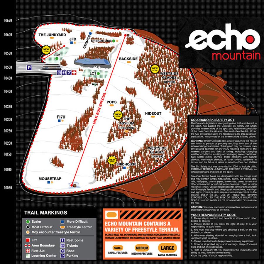 Echo Mountain Trail Map