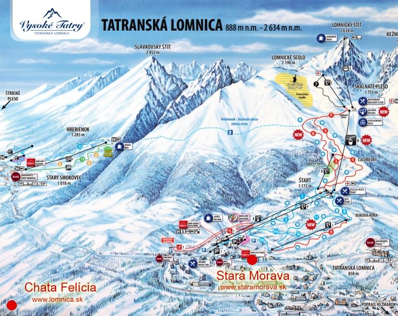 map-Vysoké Tatry